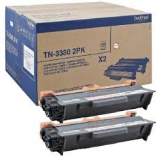 "BROTHER TONER TN-3380 Twin Pack <br/><span class=""skuid""> SKU : 7ZST06</span>"