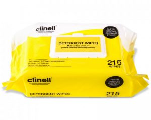"Clinell Detergent Wipes (Pack of 215)  <br/><span class=""skuid""> SKU : 4ZIC28 – 215 </span>"